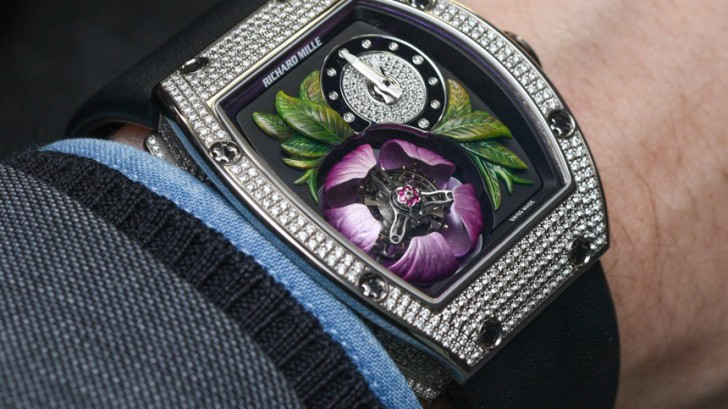 Reveiw SIHH 2015 Replica Richard Mille RM 19-02 Tourbillon Fleur With a Distinctive Automaton