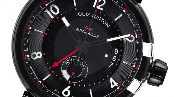 Louis Vuitton Tambour éVolution GMT Black Dial Mens Replica