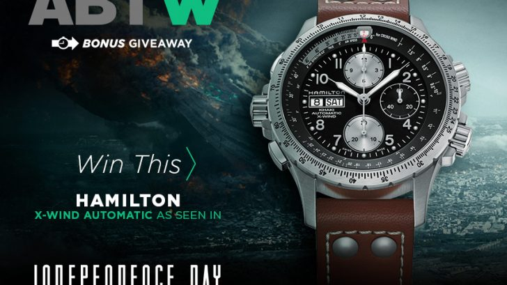 WATCH GIVEAWAY: Blancpain watches prices in dubai Replica Khaki X-Wind Auto Chrono As Seen In 'Independence Day: Resurgence' Movie Giveaways