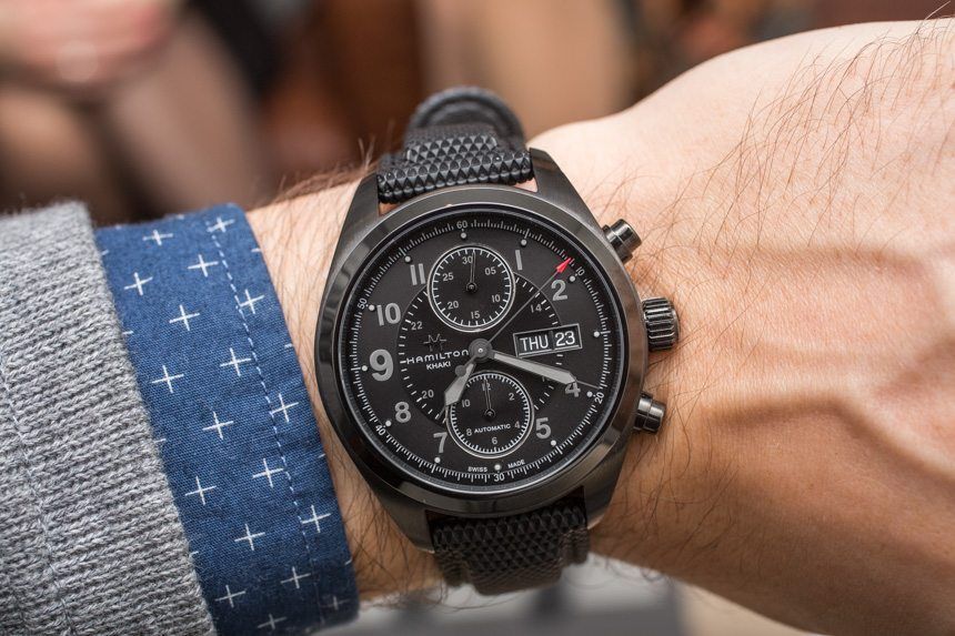 Hamilton Khaki Field Auto Chrono Watch Hands-On Hands-On