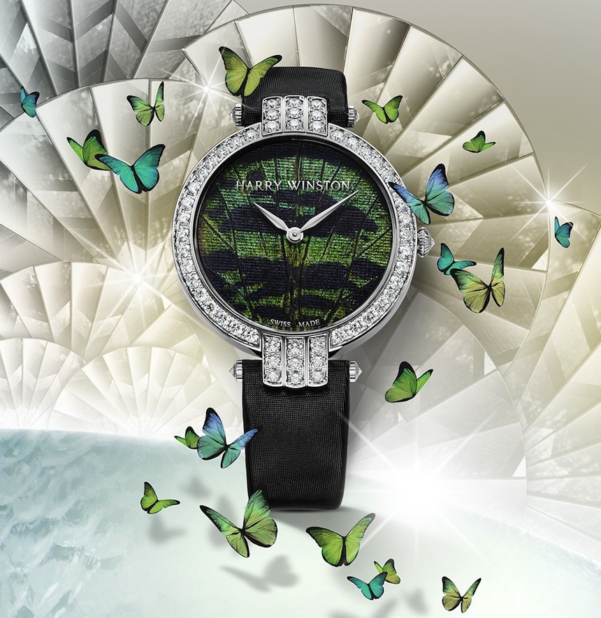 Harry Winston Premier Precious Butterfly Watches Capture 'Pixie Dust' Watch Releases